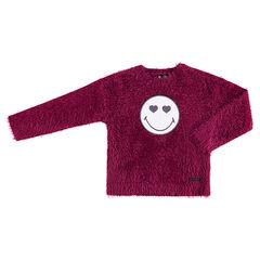 Jersey de punto con bolas rosa con parches de ©Smiley