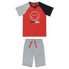 Junior - Pijama corto de jersey con estampado ©Smiley