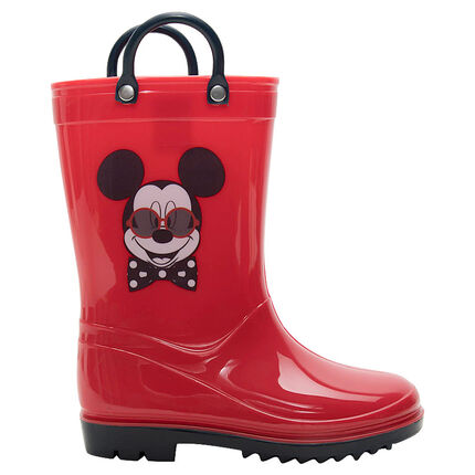 Botas de agua de goma con lunares all-over y estampado Mickey ©Disney, del 28 al 32