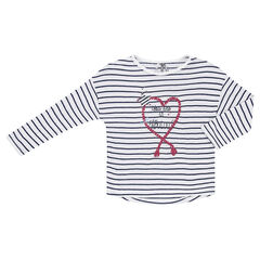 Júnior - Camiseta de manga larga con estilo de marinera con estampado