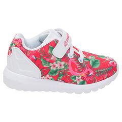 Zapatillas bajas con precioso estampado tropical