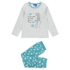 Pijama largo de terciopelo con estampado Disney Frozen