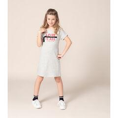 Júnior - Vestido de manga corta de felpa con mensaje estampado