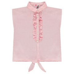 Camisa sin mangas con forma cuadrada anudable por delante