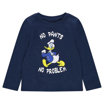 Camiseta de manga larga de punto con estampado del Pato Donald ©Disney