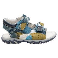 Sandalias de tela con estampados de fantasía