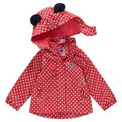 Cortavientos de goma con lunares all over Disney Minnie