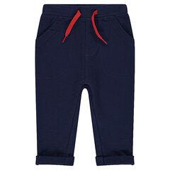 Pantalón de jogging de muletón liso