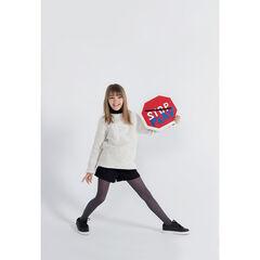 Júnior - Jersey de punto de bolas con letra cosida
