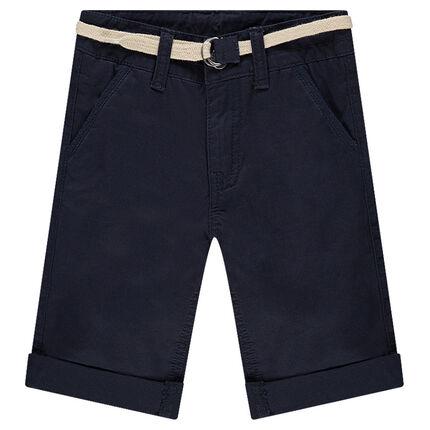 Bermudas de algodón con cinturón trenzado desmontable