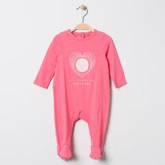 Pelele jersey rosa estampado corazón