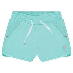 Pantalón corto de muletón liso