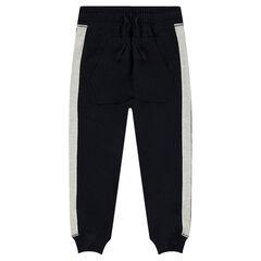Pantalón de chándal de felpa con bolsillo canguro