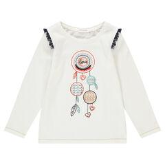 Camiseta de punto con atrapasueños bordado y estampado