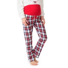 Pantalón de cuadros premamá cómodo con banda superior