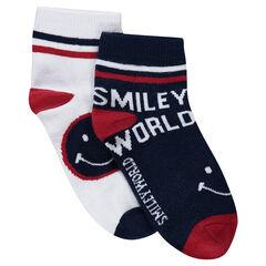 Juego de 2 pares de calcetines variados con motivos jacquard ©Smiley