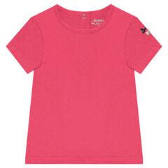 Camiseta de manga corta con corazón bordado