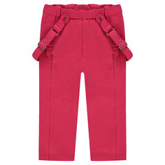 Pantalón de algodón de elastano con tirantes desmontables