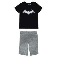 Pijama corto de punto estampado BATMAN