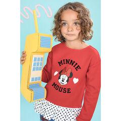 Sudadera de felpa efecto 2 en 1 estampada Minnie Disney con lentejuelas