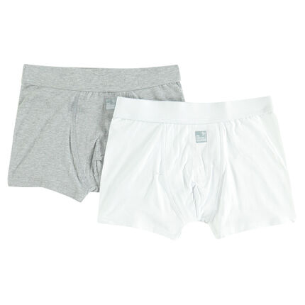 Lote de 2 boxers de algodones lisos