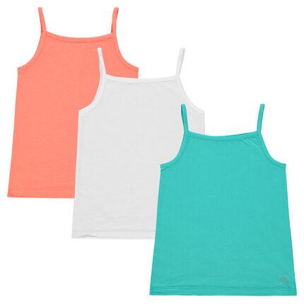 Júnior - Pack de 3 camisetas de colores lisos