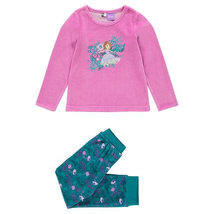 Pijama de terciopelo con princesas Disney