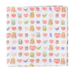 Pack de 3 mantillas 70 x 70 cm ©Smiley Baby