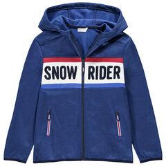 Júnior - Chaqueta de esquí con capucha y bolsillos con cremallera