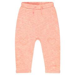Pantalón de jogging de muletón asargado con parches