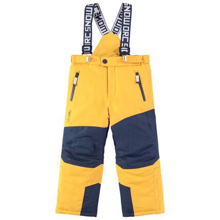 Pantalón de esquñi bicolor impermeable con tirantes ajustables y desmontables