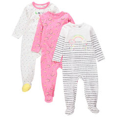 Pack de 3 pijamas de punto con estampado de fantasía