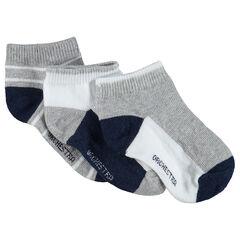 Juego de 3 pares de calcetines cortos de estilo deportivo