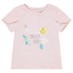 Camiseta de algodón ecológico con estampado de ©Smiley