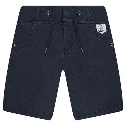 Bermudas de algodón con cintura elástica y bolsillos