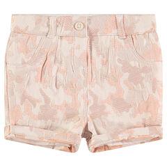 Pantalón corto de jacquard con motivo de estilo camuflaje