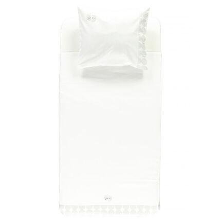 Set de lit avec drap plat et taie d'oreiller 100 x 75 cm