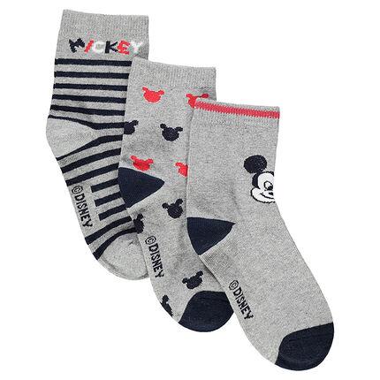 Juego de 3 pares de calcetines variados con dibujo de ©Disney Mickey