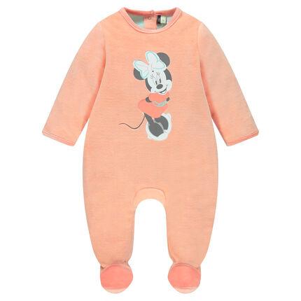 Pijama de terciopelo Minnie Disney con abertura que se adapta a cada edad