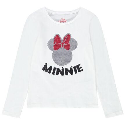 Camiseta de manga larga con Minnie de lentejuelas mágicas Disney