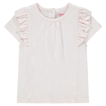 Camiseta de manga corta con volantes.