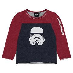 Camiseta de manga larga bicolor con estampado de Tropas de Asalto de Star Wars™