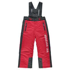 Pantalón de esquí bolsillo con cremallera con tirantes desmontables