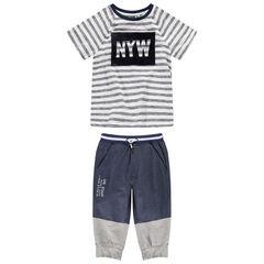 Júnior - Camiseta de manga corta de punto con estampado de terciopelo