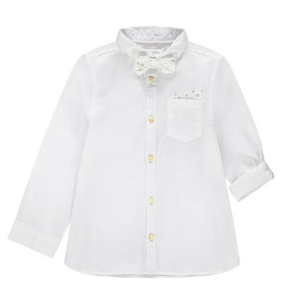Camisa de manga larga con pajarita desmontable