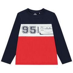 T-shirt manches longues bicolore print Cars Disney , Orchestra