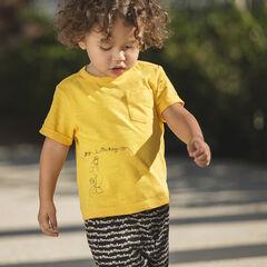 Conjunto de camiseta lisa Disney y estampado Mickey con bermudas estampadas