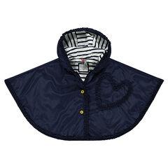 Cortavientos tipo capa con capucha