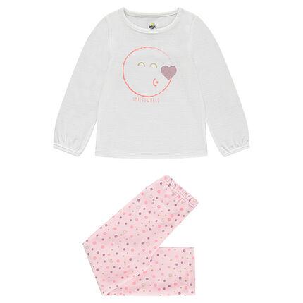 Pijama de terciopelo con estampado ©Smiley