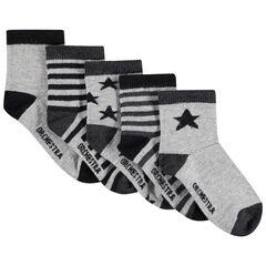 Juego de 5 pares de calcetines a juego con estrellas/rayas de jacquard